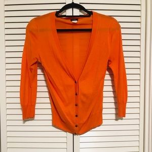 J. Crew Knit Cardigan in Orange w/ button details